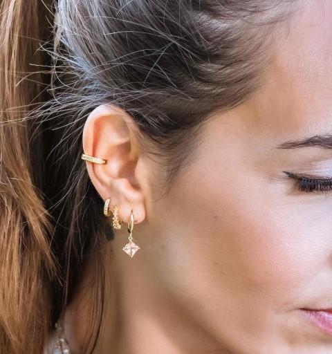 DIANA CHAMPAGNE EAR CUFF GOLD