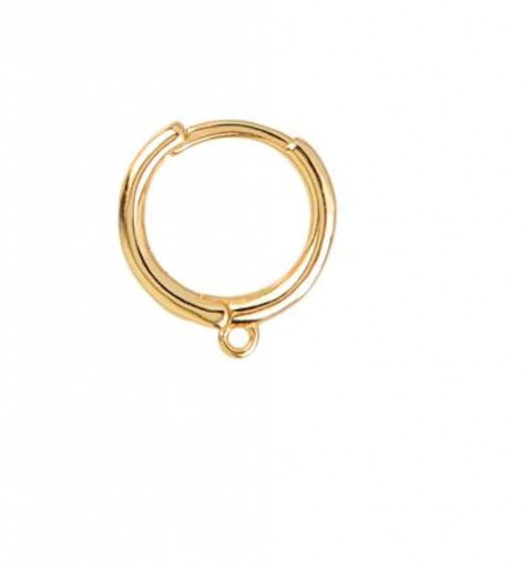 SIMPLE WITH HOOPS GOLD