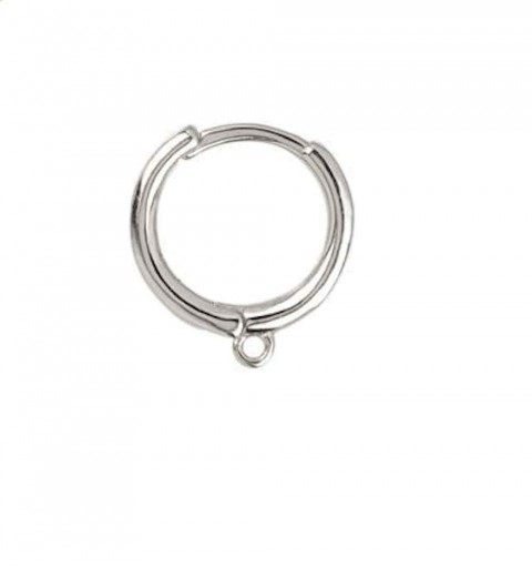 SIMPLE WITH HOOPS SILVER