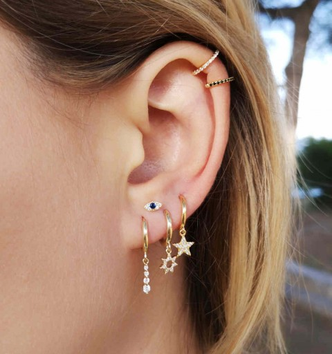 VENUS WHITE EAR CUFF GOLD
