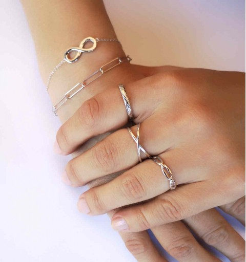 LINKS RING SILVER