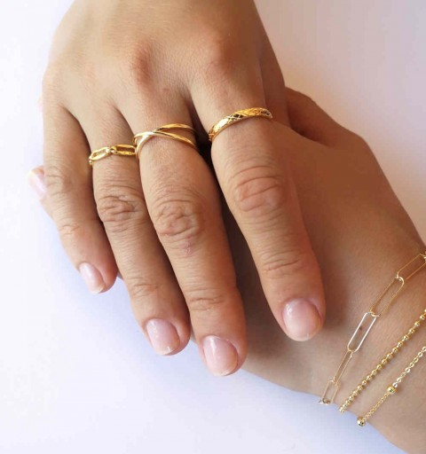 INFINITY OPEN RING GOLD