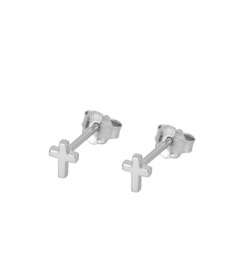 EARRING CROSS MINI SILVER