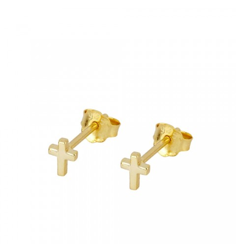 EARRING CROSS MINI GOLD