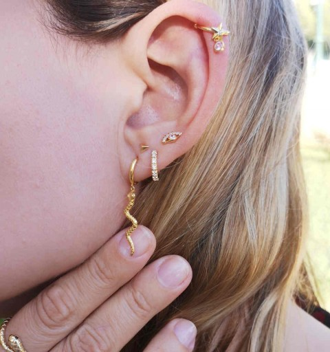 PINK STAR EAR CUFF GOLD