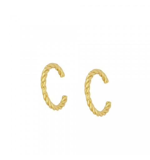CORD EAR CUFF GOLD
