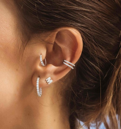 MILA EAR CUFF SILVER