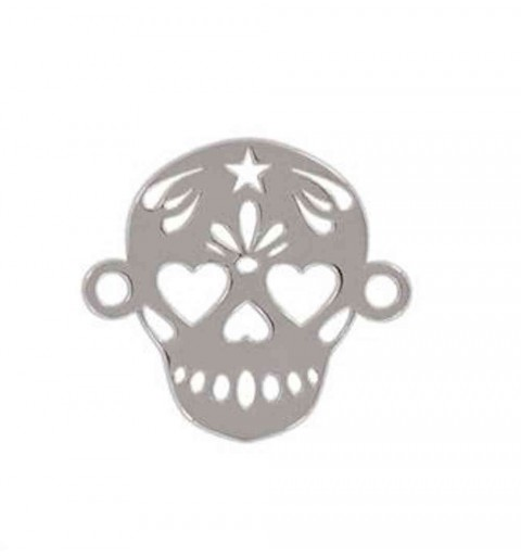 SKULL CHARM CONNECTOR SILVER