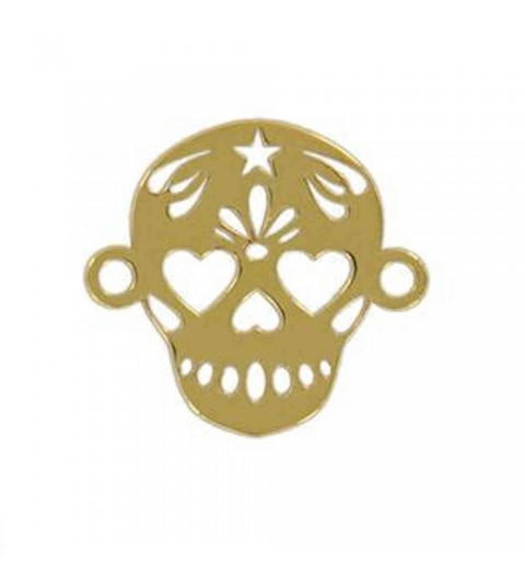 SKULL CHARM CONECTOR GOLD