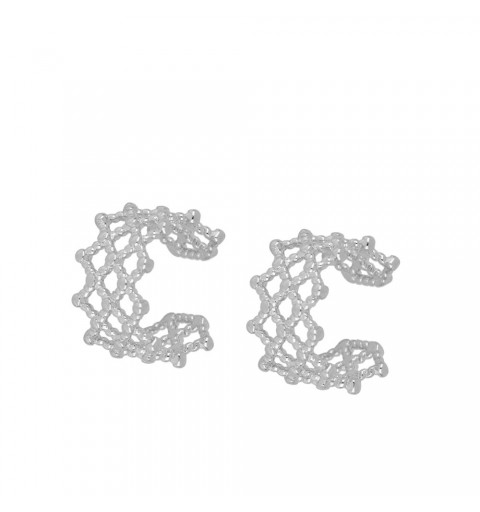 LATTICE EAR CUFF SILVER