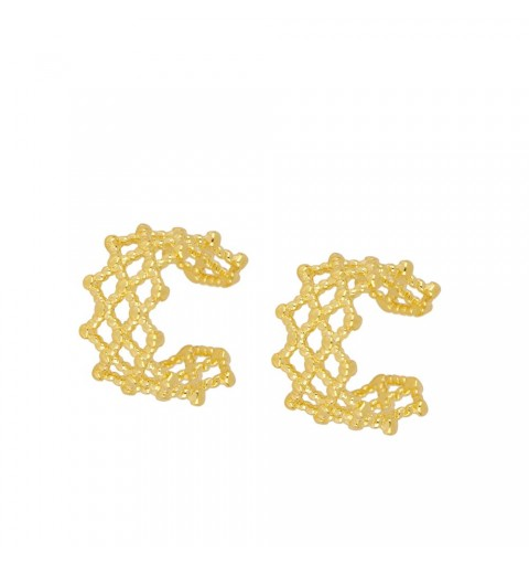 LATTICE EAR CUFF GOLD