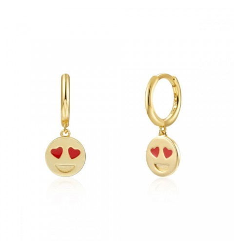 SMILEY LOVE HOOPS GOLD