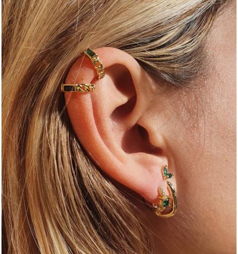 BRENDA GREEN EAR CUFF GOLD